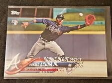 2018 Topps Update Rookie Debut Ronald Acuna Jr RC US252