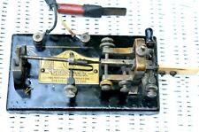 Antique MORSE Code 1922 Vibroplex Lightening Bug Serial Number 87656 Black Base