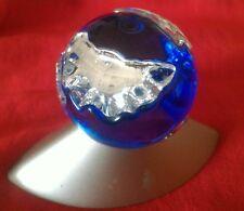 mini globo mappamondo cristallo blu