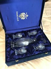 faberge crystal Decanter With four Glasses
