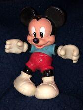 "Vtg Mickey Mouse 8.5"" Movable Plastic Figurine Doll Walt Disney"