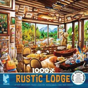 Ceaco Puzzle Rustic Lodge - Fishing Map and Guide Fair