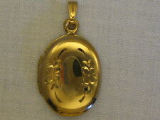 14k Yellow Gold Oval LOCKET  # 11-002
