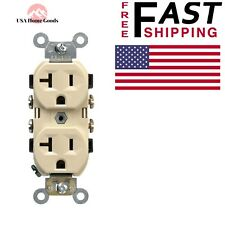 Ivory Commercial Grade Duplex Outlet 20 Amp Electrical Receptacle Heavy Duty