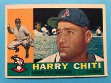 1960 Topps Kansas City Athletics Baseball Card #339 Harry Chiti