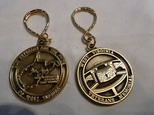 WV WEST VIRGINIA Veterans WAR MEMORIAL Charleston brass Key Ring token NICE!