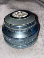 Anodized Working aluminum vintage music box circa 1940s or 1950s Pearl Top