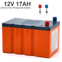 17AH 12V Battery Rechargeable Lithium Iron Phosphate  LiFePO4 High Efficiency