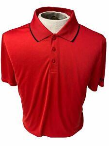Fila Sport Men's Size Medium Red Polo Shirt Short Sleeve Stay the Coarse