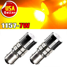 2x Amber 1157 12SMD LED Light Bulbs Tail Brake Stop Turn Signal 1073 1141 7527