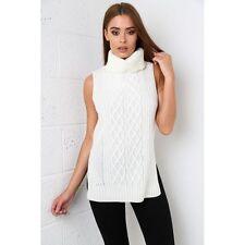 Ärmellose Damen-Pullover mit Rollkragen