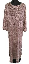 NEW LOOK BROWN PATTERNED LONG DRESS - UK Size 16
