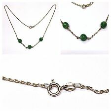 Moderna Collana/COLLIER CON VERDI SFERE 925er argento collana argento/Collier in