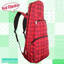 "26"" Checker Tenor Ukulele Musical Intrument Case Gig Bag Backpack Rucksack 2 Way"