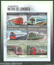 MOZAMBIQUE 2013 150th ANNIVERSARY OF THE LONDON METRO SHEET MINT NH