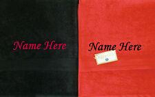 Personalised Towels Honeymoon Wedding Beach Towel Gift Set 1 x Red & 1 x Black