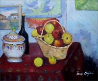 Paul Cezanne Still Life Soup Tureen Repro. Hand Painted Oil Painting 20x24in