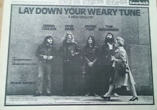 McGUINNESS FLINT Lay Down Your Weary Tune 1972 UK Press ADVERT 12x8 inches