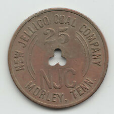 New Jellico Coal Company 25 cents 1939 coal scrip token Morley Tennessee 106