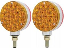 """4"""" Round LED Popsicle Double Face Fender Pedestal Red/Amber Turn Signal 38103"""
