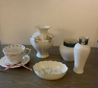 Lot of 5 LENOX China Pieces 3 vases 1 dish 1 cup