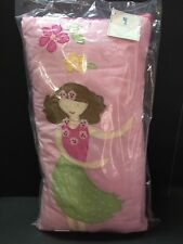 Pottery Barn Kids HULA GIRL PILLOW Mermaid Aloha Island Emmie Surf Ocean Bed NEW