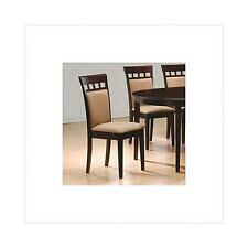 coaster cushion back dining chairs cappuccino set of 2 french oak modern