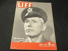 1942 APRIL 13 LIFE MAGAZINE - ARMY'S SUPPLY CHIEF COVER - GREAT ADS - O 6575