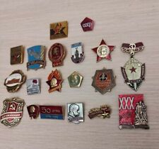 Original Badges comunism USSR Russia Lenin political Red October