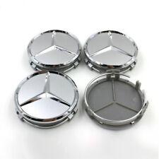 4x Silber Radmitte Radkappe Abzeichen Emblem Felgenabdeckung Mercedes Benz 75mm