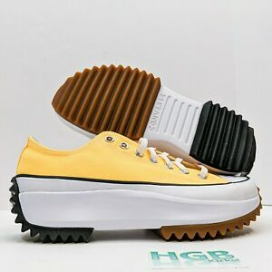 Converse Run Star Hike Ox Women's Platform Running Training Yellow White 170778C