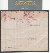 MS941 1944 WW2 German Internee PALESTINE *Jerusalem Camp V* Letter Rendsberg EL