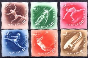Old stamps of Hungary 1952 # 1247-52   MNH MELBOURNE OLYMPIC