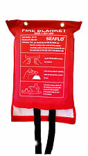 Home Safety 1.8M x 1.8M Fire Blanket Protection Red Sealed Case Fast Release Tab