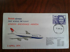 First Boeing 747 flight from London to Tokyo,British Airway,1974,memory envelope