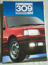 Peugeot 309 GTi range brochure May 1987