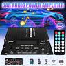 Digital Bluetooth Audio HiFi Stereo Power Amplifier Car Amp USB/FM/SD/AUX/MP3 @