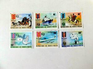 Burkina Faso #332-334 #C189-191, Used/VF, UPU Centenary, 1974
