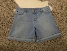 J.Jill Woman Short Jeans Pant Boyfriend Stretch Blue Sz 6 L6