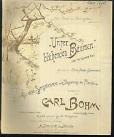 """Carl Bohm :  """" Unter blühenden Bäumen """" ( tiefe Stimme ) ~ alt, übergroß"""