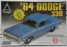1964 64 DODGE 330 SEDAN STOCK 383 V-6 SLANT SIX BOYS MOPAR LINDBERG MODEL KIT