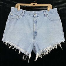 Vintage Levis 16 Cut Off Jean Shorts Light Wash Denim Mid High Rise Womens