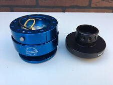 For: Polaris RZR Steering Wheel Hub Black + Quick Disconnect Release Blue