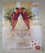 1983 ad page - Stouffer's Lean Cuisine sexy girl in leotard & pantyhose print AD