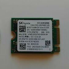 NEW SK HYNIX BC501 512GB M.2 2230 PCIe NVMe SSD HFM512GDGTNG-83A0A 500GB