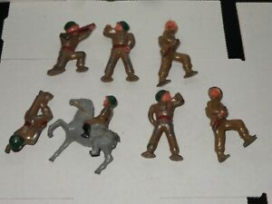 Barclay Manoil Toy Lead Soldiers 7 In Set As Is!