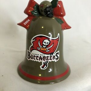 Tampa Bay Buccaneers NFL 2004 Christmas Bell Danbury Mint Procelain Ornament
