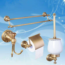 4pcs Bathroom Antique Brass Brushed Nickel Bath Accessories Set Bath Towel Bar