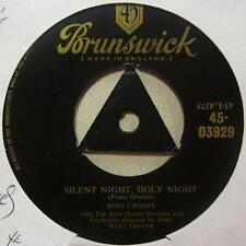 "Bing Crosby(7"" Vinyl 1st Issue Tri-Centre)Silent Night Holy Night-Ex/VG+"