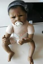 """Reborn Baby Doll 22"""" Realistic Black African American Naked doll, Without outfit"""
